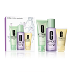 CLINIQUE SET 3-Step Skin Care System 2 Dry Combination Liquid Facial Soap Mild 50ml + Clarifying Lotion 2 100ml + Dramatically Different Moisturizing Cream 30ml