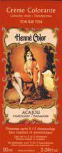 NJD Cosmetics Natural Colour Cream - Henna w płynie Acajou/Mahoń 90ml